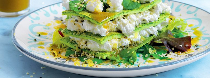 Recipe Omelette and goat cheese millefeuille