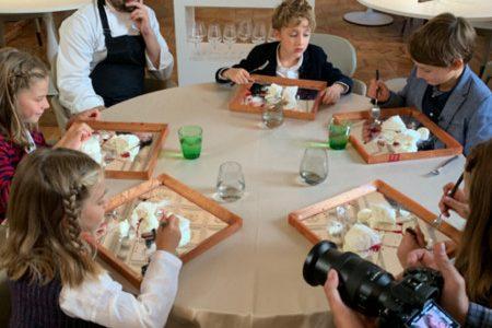 5 children taste Contraste's haute cuisine