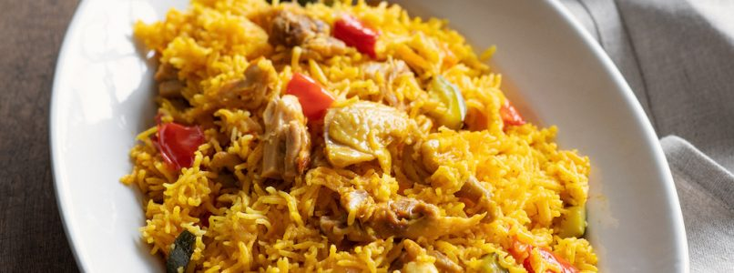 Africa rice with chicken and spices