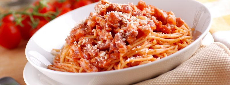 Amatriciana without bacon - Italian cuisine