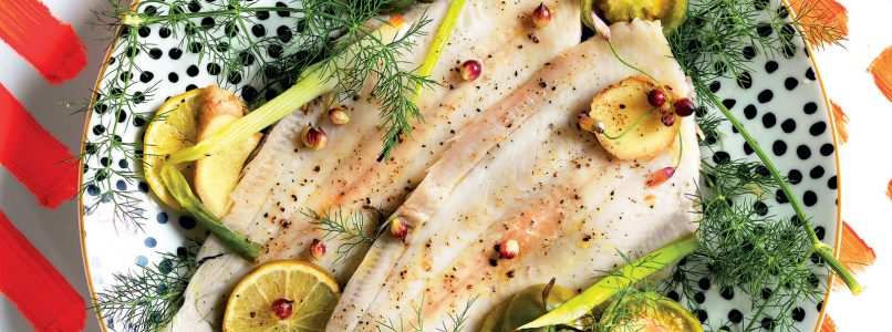 Baked sole recipe with fennel and ginger
