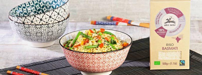 Basmati sautéed with crunchy vegetables