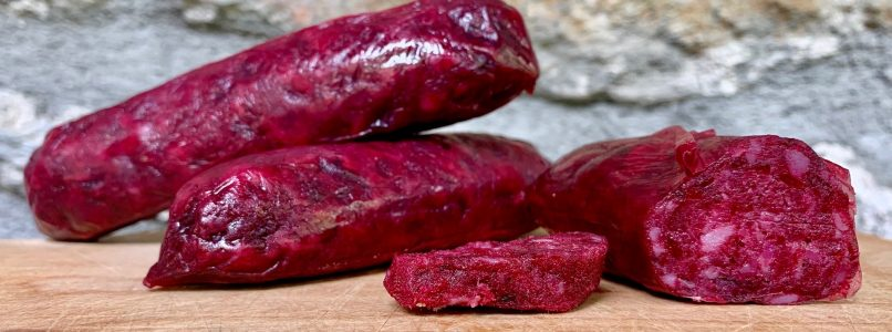Boudin, salami with blood (or beetroot)
