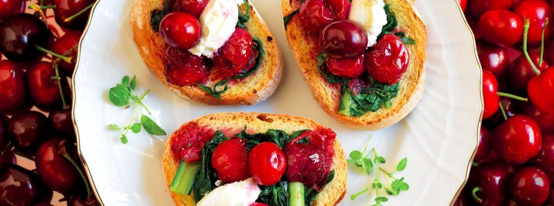 Bruschetta recipe, bitter herbs and ginger compote