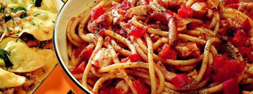Bucatini with Octopus Recipe - Italian Cuisine
