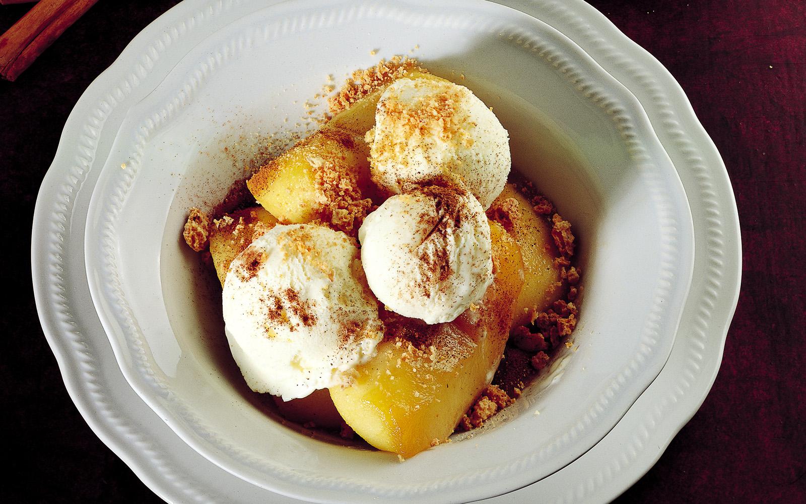 Caramelized Apples to ice cream