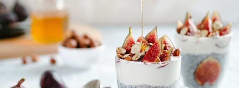 Chia pudding with figs: the magic summer pudding