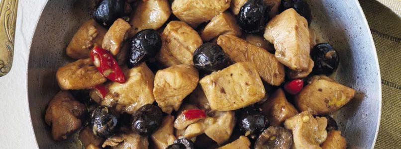 Chicken stew with olives recipe