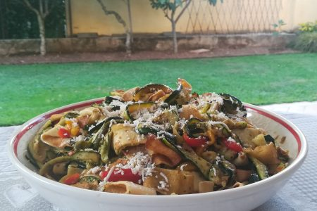 Crepes tagliatelle, the fresh recipe of late summer