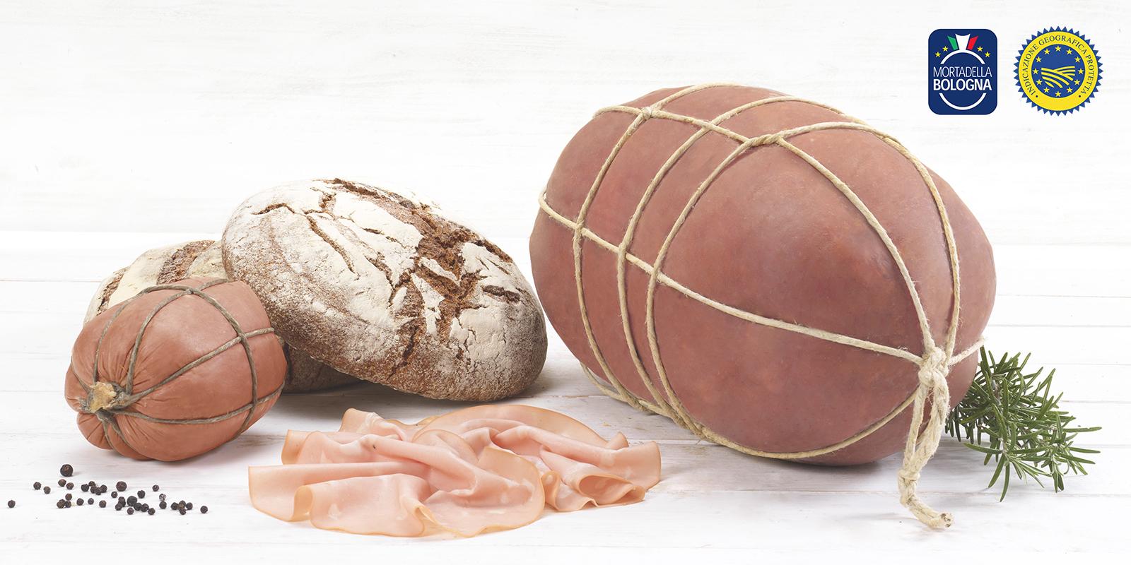 Croissants of pistachio bread with Mortadella Bologna PGI