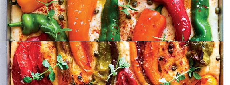 Focaccia recipe with peppers and capers