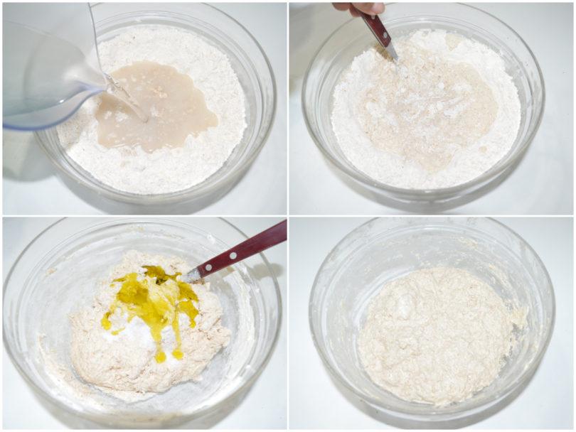 »Focaccia with flour 1