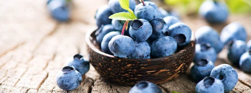 Healthy and beautiful with blueberries