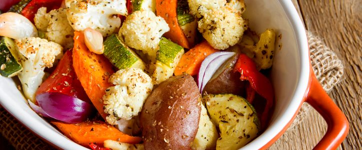 How to make baked vegetables au gratin light