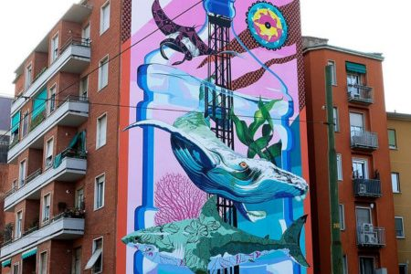 In Milan the mural that purifies the air