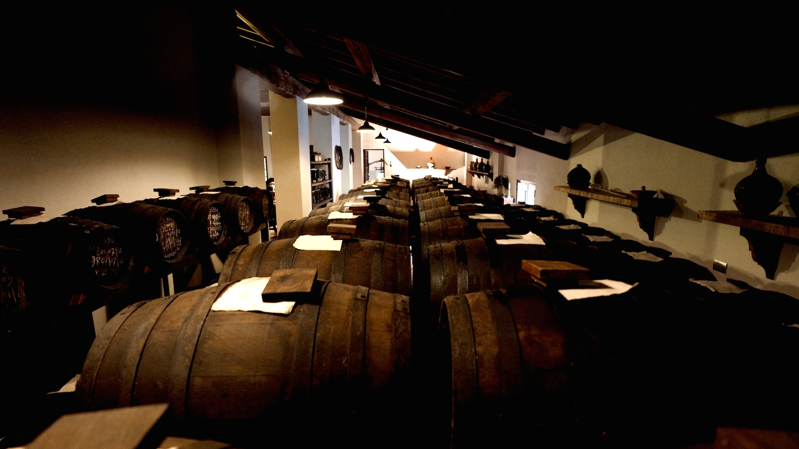 The 600 historic barrels of the 1700s and 1800s are still in operation.