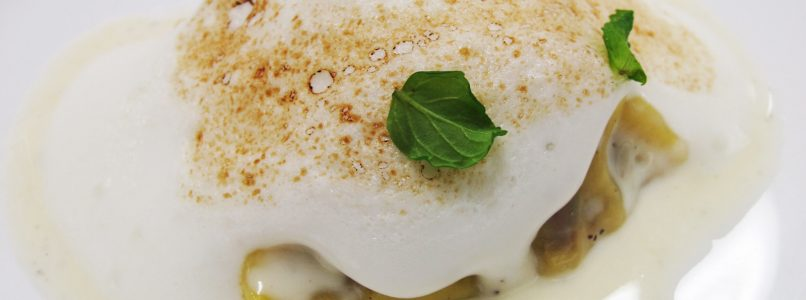 Lamb tortelli with cream and mint by Luciano Monosilio