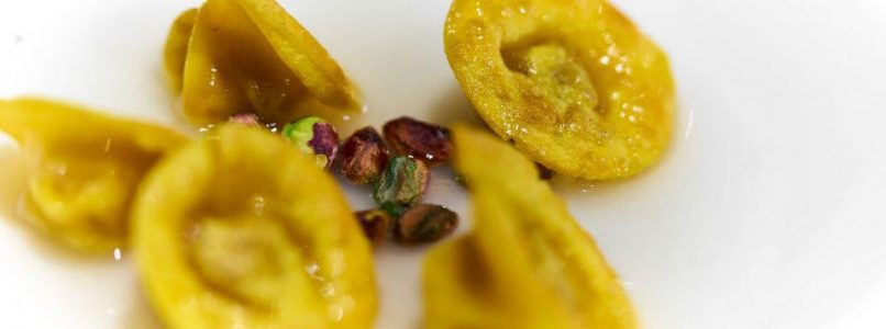 "Marco Martini's ""pizza and mortazza"" tortelli"