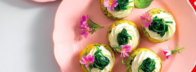 Muffin recipe with robiola foam