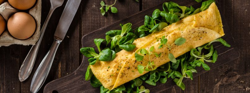 Omelette rolls: beautiful, fast and for all tastes