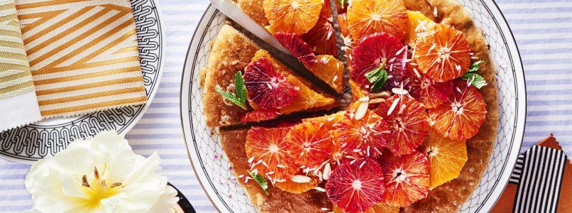 Orange, mint and almond pizza recipe
