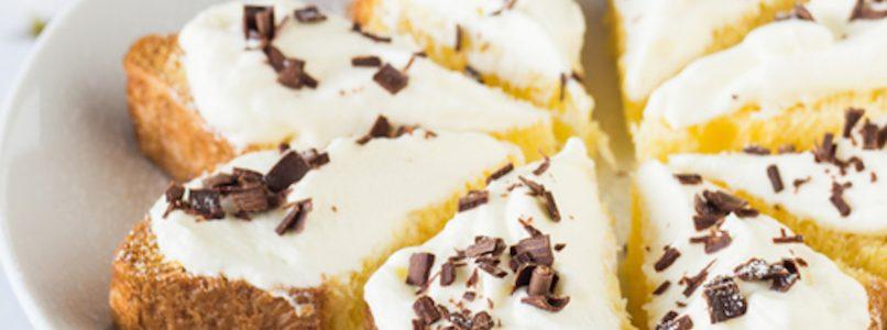 Pandoro with white chocolate cream