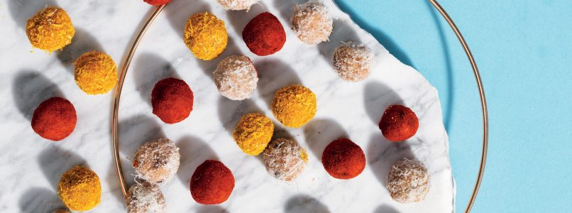 Praline Grana Padano and dried fruit recipe