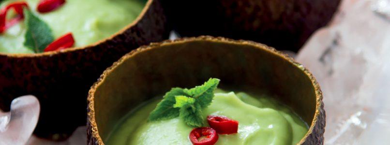 Recipe Avocado and cucumber cream with mint