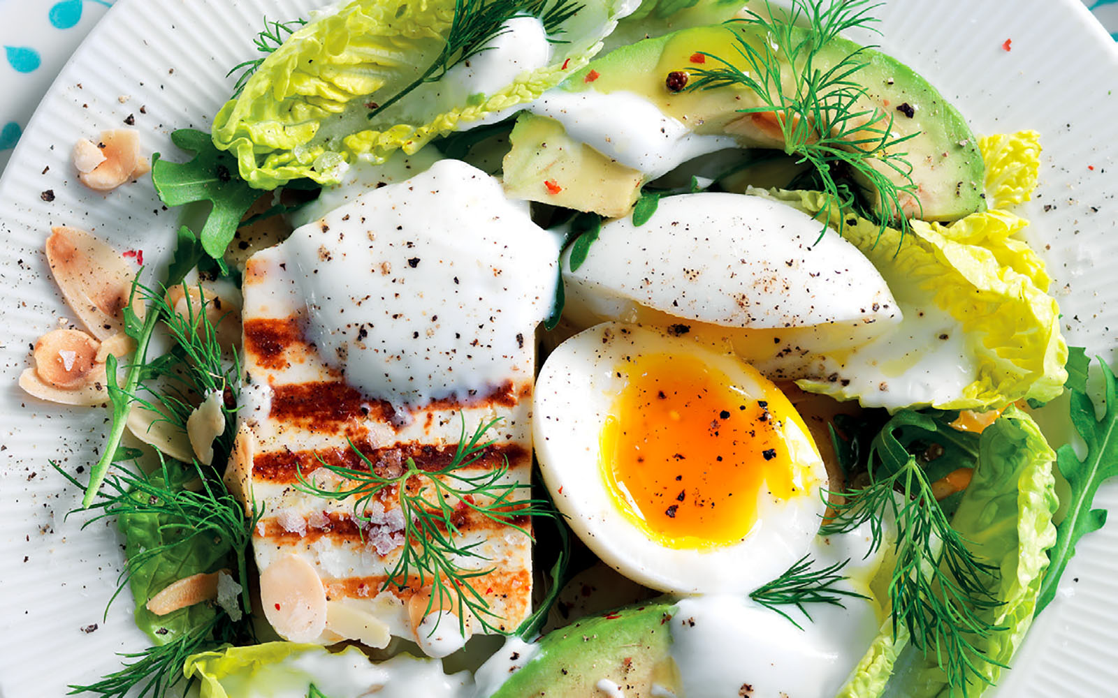 Recipe Barzotto egg, cheese and salads