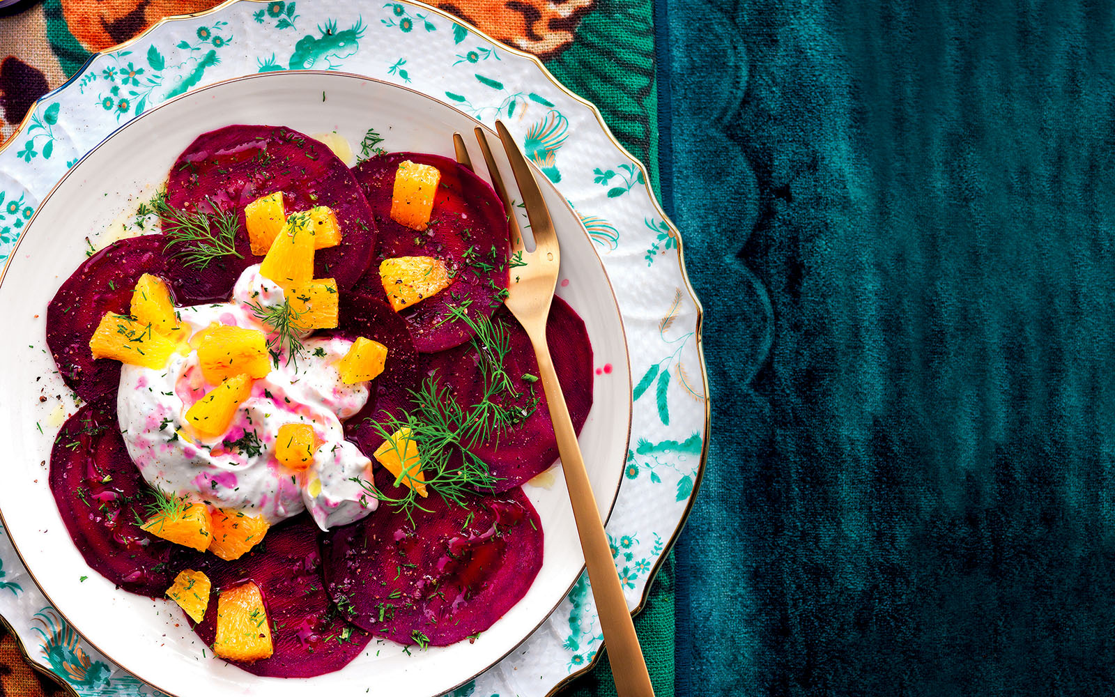 Recipe Carpaccio of beetroot, oranges and goat cheese