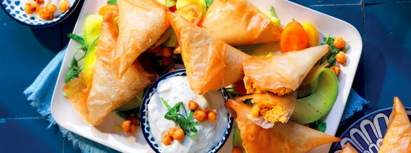 Recipe Crunchy bundles with spiced chickpea cream
