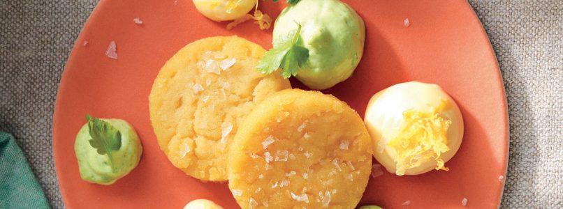 Recipe Discs of panissa with lemon mayonnaise