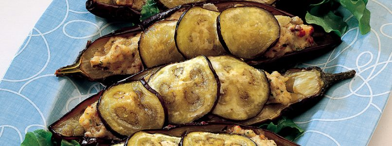 Recipe Eggplant boats stuffed with fish