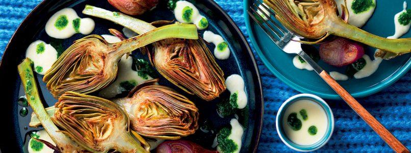 Recipe Fried artichokes with shallot cream