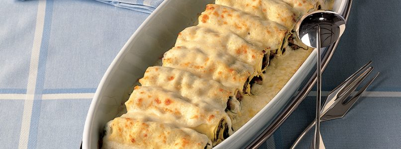 Recipe Grated meat cannelloni