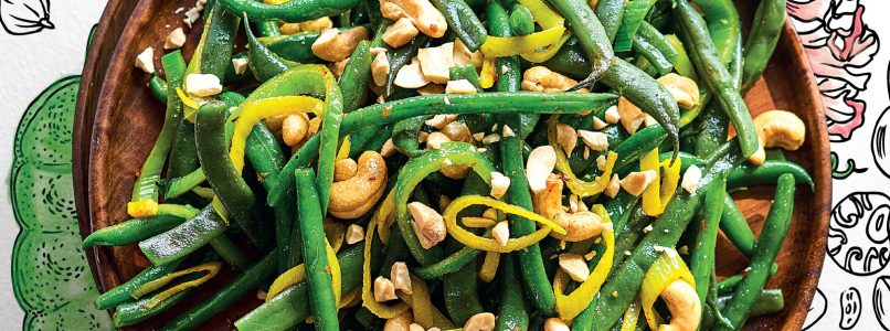 Recipe Green beans and spiced cashews