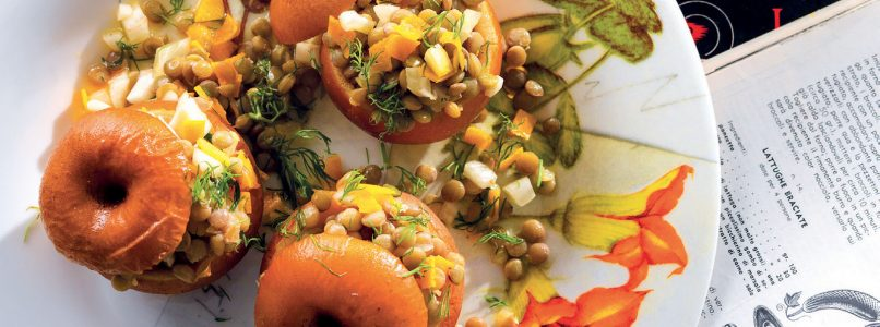 Recipe Lentil and fennel salad in apples