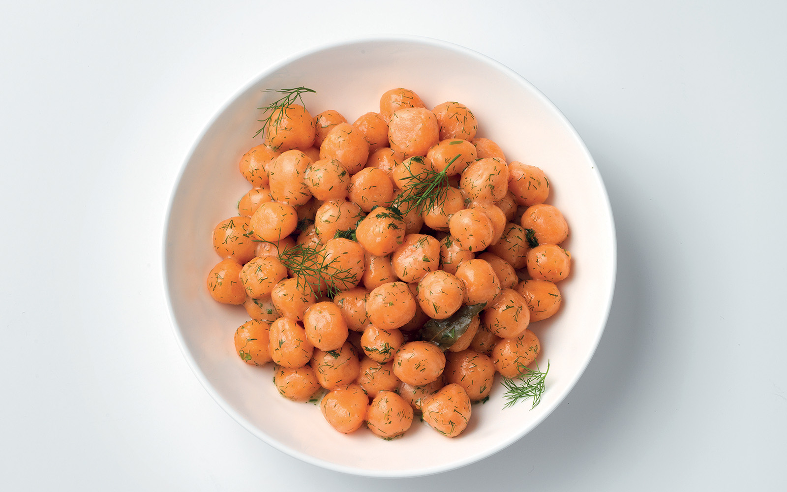 Recipe Potato gnocchi and beat with butter