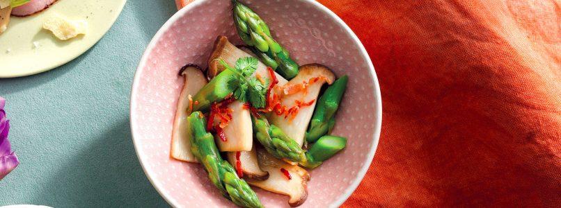 Recipe Salad of asparagus, cardoncelli and speck