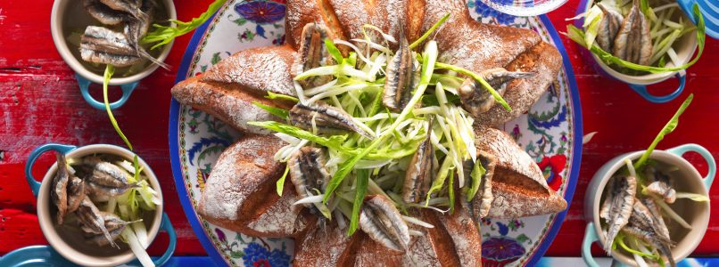 Recipe Salad with chicory and fried anchovies