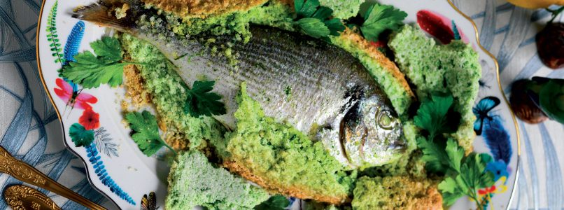 Recipe Sea bream in fennel and lemon crust