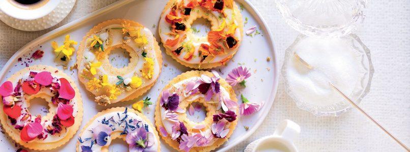Recipe Shortbread with sugar-flowering icing