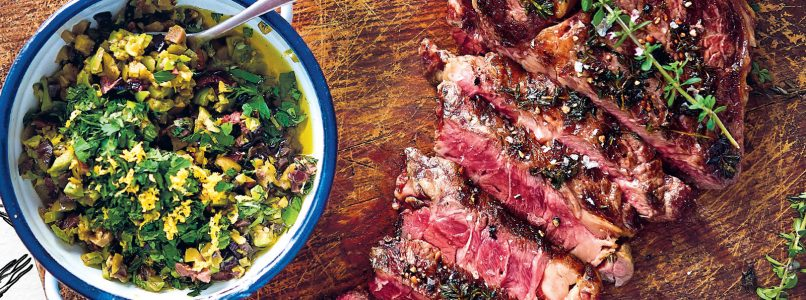 Recipe Sirloin with thyme and olives
