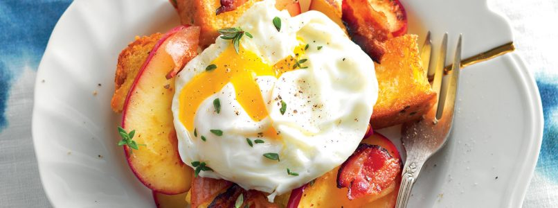 Recipe Soft-crisp egg with apple and bacon