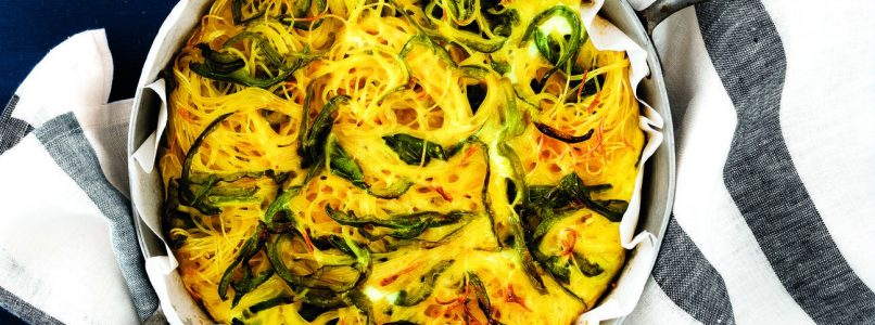 Recipe Spaghetti and green pepper omelette