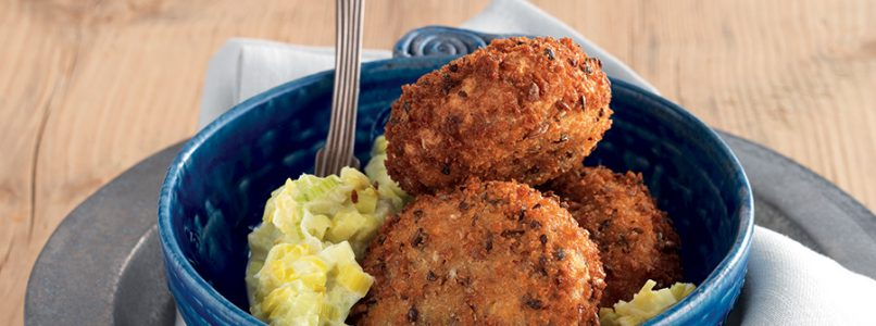 Recipe Veal and carrot meatballs with leek sauce