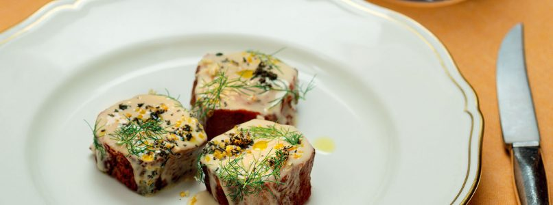 Recipe Veal fillet with milk, sage, lemon and fennel sauce