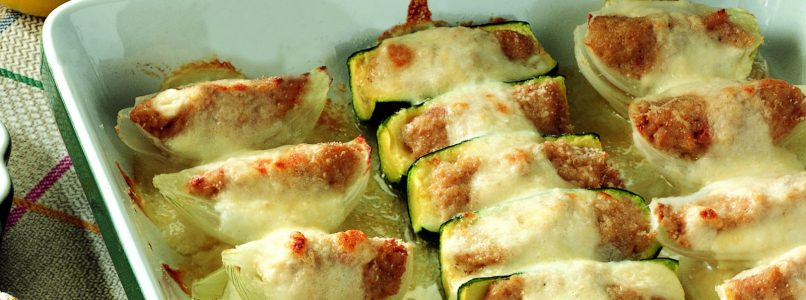 Recipe Vegetable boats filled with meat