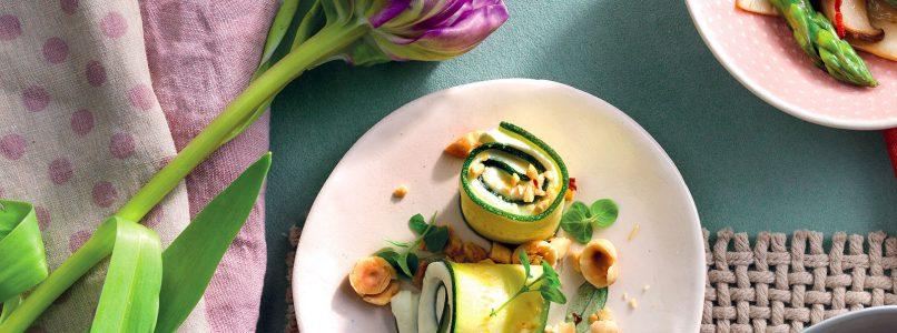 Recipe Zucchini swirls in sweet and sour sauce