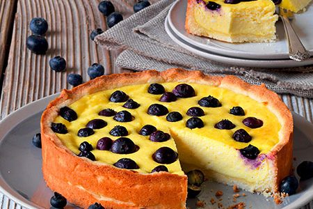 Ricotta cake recipe with blueberries
